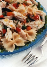 Mediterranean Crab and Bow Tie Pasta Salad with Sunshine Dressing